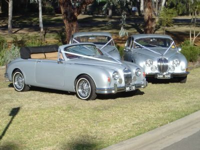 Jaguar Mark 1 Convertible with 2 Jaguar S Types - Our unique Jaguar Mark 1 Convertible was hand built and complimenting this car could be the Jaguar S Type (which seats 4) of which we have 2 available.